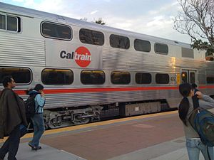 Caltrain - A Caltrain car manufactured by Nippon Sharyo.