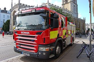 Cambridgeshire Fire and Rescue Service - a Cambridgeshire fire and rescue service rescue pump in Cambridge