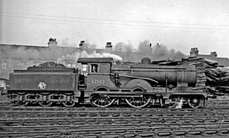GER Classes S46, D56 and H88 - Class D15 No. 62503 at Cambridge Shed in August 1949. Note the cut-out splashers and small 'water-cart' tender.