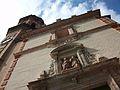 Campanar i façana de l'església de sant Valeri des de baix, Russafa.JPG