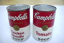 Le famose scatolette di zuppa Campbell's