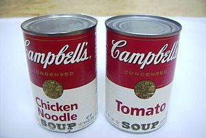 Instant soup - Campbell's condensed canned soup
