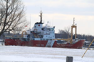 Canadian Coast Guard - CCGS ''Griffon'' patrolling the Detroit River.