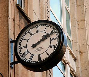 English: Canavan clock, Belfast A Canavan cloc...