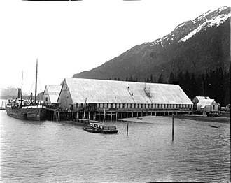 Excursion Inlet, Alaska - Pacific American Fisheries cannery at Excursion Inlet, June 1911