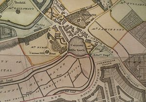 Canonmills - Canonmills Loch shown on a map from 1804