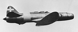 Jet aircraft - Caproni Campini N1 in flight