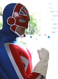 Cosplay de Captain Britain.
