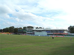 Leicestershire County Cricket Club - The Bennett Road end.