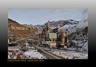 Carbon County, Utah - Image: Carbon power plant at Castle Gate Utah panoramio
