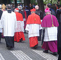Cardinals and bishops in Bruges escorted by police.jpg