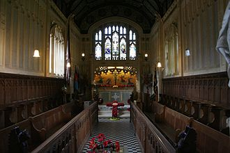 Church of St Nicholas in Castro, Carisbrooke - The interior of the church