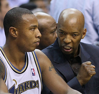 Sam Cassell - Cassell (right) speaking with Caron Butler