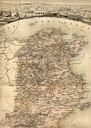 Italian Tunisians - Map of Tunisia in 1902, when the Tunisian Italians were its biggest European community . The island of Tabarka can be seen in full resolution near the Algerian border.