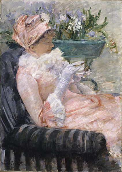 Mary Cassatt: 'The Cup of Tea' (from Wikimedia Commons)