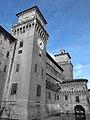 Castello Estense - Torre dell'Orologio BN.jpg