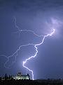 Castillo de Chapultepec con rayo - Tormenta eléctrica al poniente de la Ciudad de México - Lightning over Mexico City.jpg