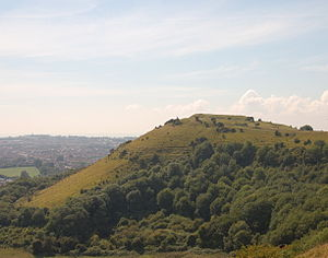Castles in Great Britain and Ireland - Folkestone Castle in England, a Norman ringwork castle