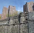 Castle Village and retaining wall from Hudson River Greenway 2.jpg