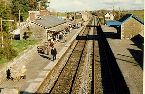 Castlebar railway station - Castlebar railway station pictured in 1989