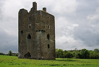 Upper Ossory - Ballagharrahin (Ballagh Castle) is a 15th-century five-story towerhouse in Rathdowny parish, Co. Laois used by the Fitzpatricks.
