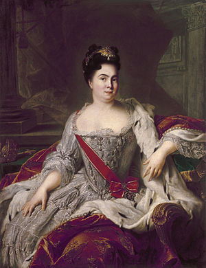Catherine I of Russia - Portrait of Catherine by Nattier