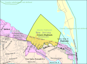 Atlantic Highlands, New Jersey - Image: Census Bureau map of Atlantic Highlands, New Jersey