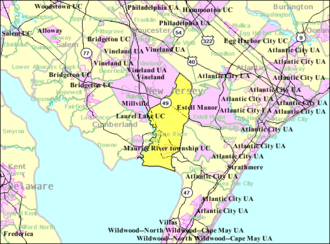 Maurice River Township, New Jersey - Image: Census Bureau map of Maurice River Township, New Jersey