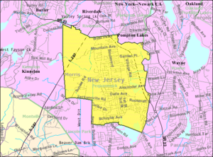Pequannock Township, New Jersey - Image: Census Bureau map of Pequannock Township, New Jersey
