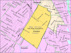 Census Bureau map of Teterboro, New Jersey