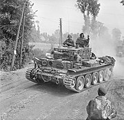 Centaur IV tank of 'H' Troop, 2nd Battery, Royal Marine Armoured Support Group, 13 June 1944. B5457