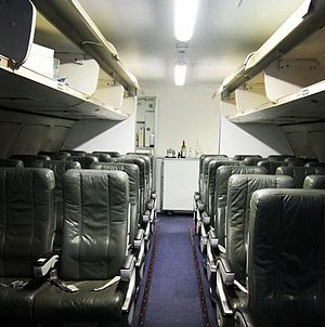 Sandwell College - A Boeing 737 Aircraft Cabin used for Aircraft Cabin Crew Courses