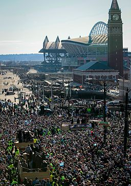 CenturyLink Field, Super Bowl parade