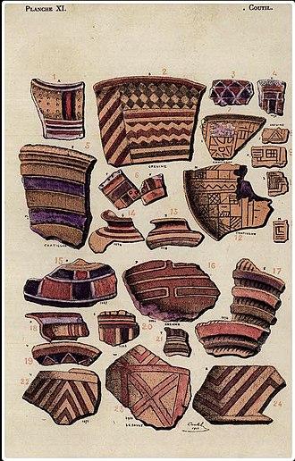 Prehistoric pile dwellings around the Alps - Image: Ceramiques palafittes lac du Bourget