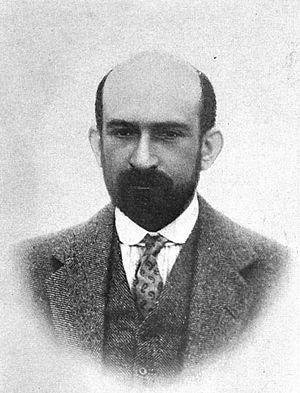 Portrait of Chaim Weizmann, Chairman of the Zi...