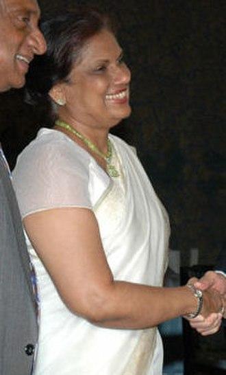 Sri Lankan parliamentary election, 2004 - Image: Chandrika Kumaratunga