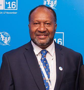 Prime Minister of Vanuatu - Image: Charlot Salwai, ITU Telecom World 2016 (cropped)