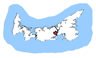 Charlottetown (electoral district) - Charlottetown in relation to the other Prince Edward Island ridings