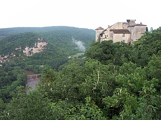 The Aveyron at the mouth of the Vère near Bruniquel