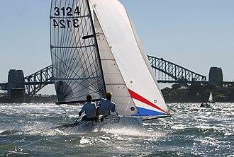 Cherub (dinghy) - Cherub dinghy sailing on Sydney Harbour