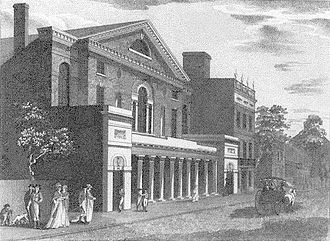 Chestnut Street Theatre - The New Theatre (ca. 1820)