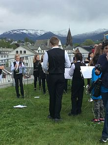 Local youth perform at the Voss Kulturhus