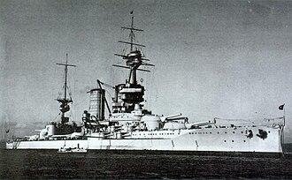 Almirante Latorre-class battleship - Almirante Latorre in the 1930s.
