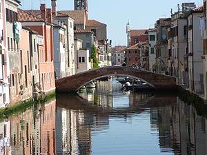 Le baruffe chiozzotte - Chioggi lagoon, bridge over Canal Vena