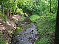 Chlumec, Ždírnický potok, z mostu U zámeckého rybníka proti proudu.jpg