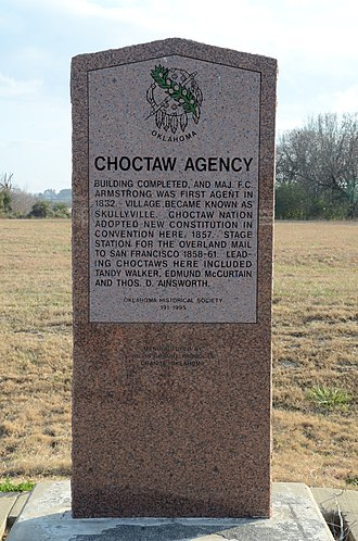 National Register of Historic Places listings in Le Flore County, Oklahoma - Image: Choctaw Agency, Memorial Marker