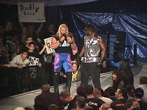 Curtis Hughes - Hughes (right) with Chris Jericho, during his short stint as Jericho's enforcer in 1999.