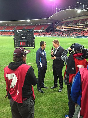 Chris Scott (Australian footballer) - Image: Chris Scott and Cameron Ling