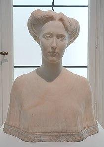 Christa Winsloe by Heinrich Jobst, 1906-1908, marble - Museum Künstlerkolonie Darmstadt - Mathildenhöhe - Darmstadt, Germany - DSC06026.jpg