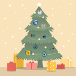 Christmas tree with Wikimedia Projects' logos.png